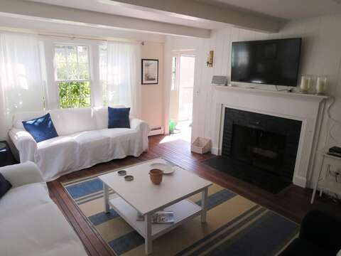Another view of the Living room with Flat Screen TV- 13 Monomoy Circle Chatham Cape Cod New England Vacation Rentals