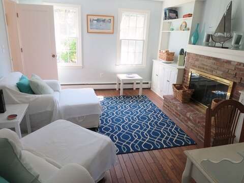 Comfy seating in den off kitchen - nice and private - great to curl up with a good book- 13 Monomoy Circle Chatham Cape Cod New England Vacation Rentals