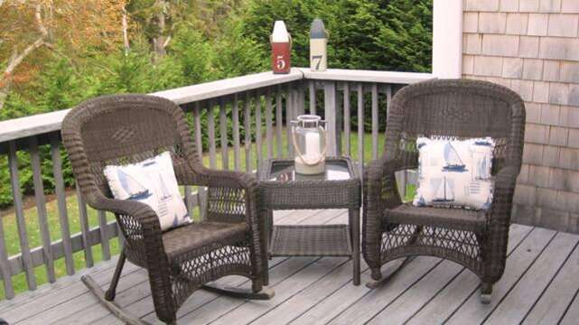 Extra seating on the deck - 13 Monomoy Circle Chatham Cape Cod New England Vacation Rentals