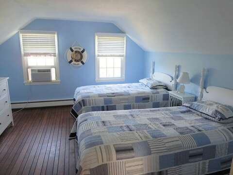 Upstairs Bedroom #2 with 2 Twin Beds - 13 Monomoy Circle Chatham Cape Cod New England Vacation Rentals
