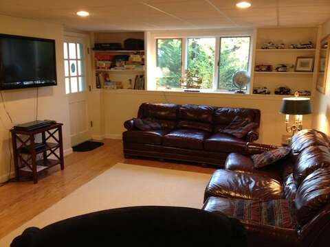 Lower Level with Flat Screen - 13 Monomoy Circle Chatham Cape Cod New England Vacation Rentals