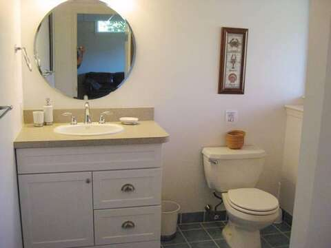 Lower Level Bathroom with shower - 13 Monomoy Circle Chatham Cape Cod New England Vacation Rentals