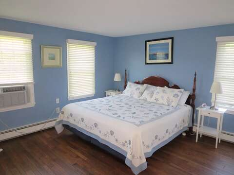 Main Floor Bedroom #1 with King Bed with on suite bath (shower only) - 13 Monomoy Circle Chatham Cape Cod New England Vacation Rentals