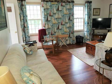 Family room with a flat screen TV - 22 Happy Way Harwich Cape Cod New England Vacation Rentals