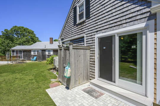 Out door shower-54 Hiawatha Road Harwich Port Cape Cod New England Vacation Rentals