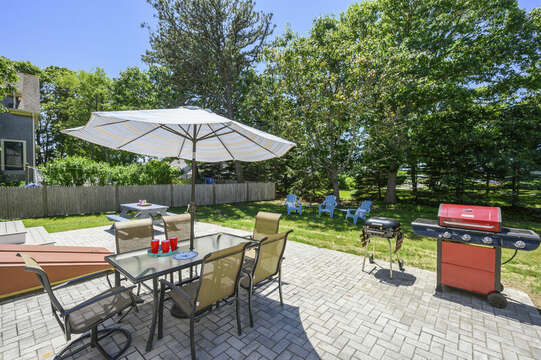 New patio , grill , table and more at-54 Hiawatha Road Harwich Port Cape Cod New England Vacation Rentals