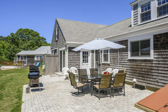 Out door patio at-54 Hiawatha Road Harwich Port Cape Cod New England Vacation Rentals