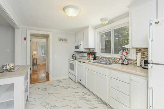 New remolded and updated kitchen - 54 Hiawatha Road Harwich Port Cape Cod New England Vacation Rentals