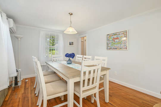 Dining room with seating for 8-54 Hiawatha Road Harwich Port Cape Cod New England Vacation Rentals