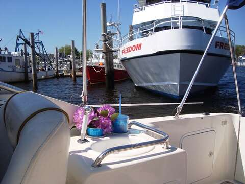 Take a charter out fishing or grab the Freedom Ferry to Nantucket for the day- just about a mile away From the cottage! South Harwich Cape Cod New England Vacation Rentals