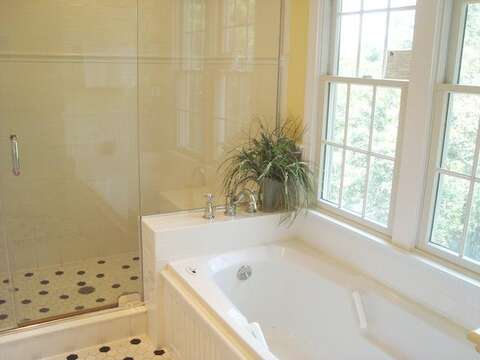 Master bath with Jacuzzi and shower - 138 Soundview Avenue Chatham Cape Cod New England Vacation Rentals