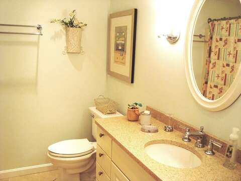 Bath off hall on first floor - 138 Soundview Avenue Chatham Cape Cod New England Vacation Rentals