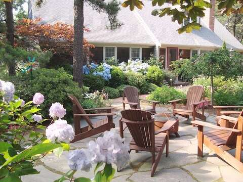 Welcome to The Heron's Nest - Patio with Firepit - 138 Soundview Avenue Chatham Cape Cod New England Vacation Rentals