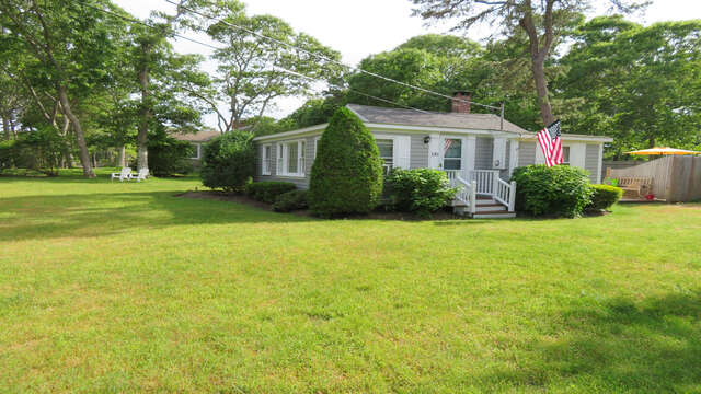 Large Yard  at the Boys little caper!  130 Belmont Road West Harwich- Cape Cod - New England Vacation Rentals