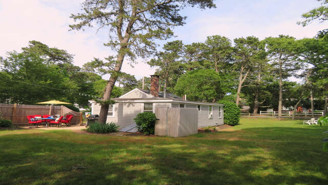Spacious Backyard with outdoor shower -  130 Belmont Road West Harwich- Cape Cod - New England Vacation Rentals