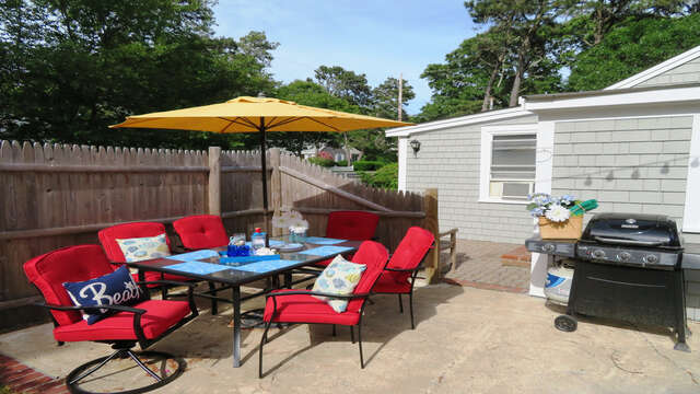 Welcome to The Boys Little Caper.-Outdoor dining - 130 Belmont Road West Harwich- Cape Cod - New England Vacation Rentals