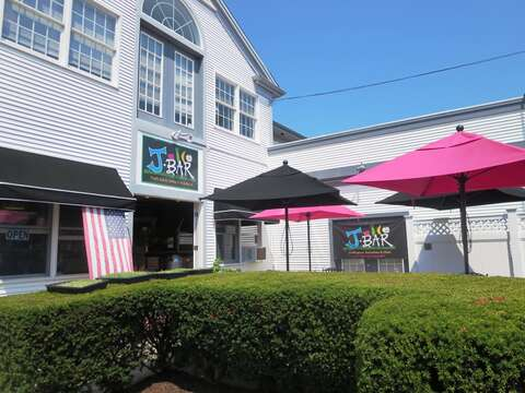 Sip a freshly blended juice on the patio of J-Bar for that afternoon boost - Harwich Port Cape Cod New England Vacation Rentals