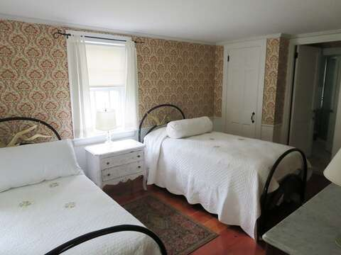 Bedroom #1 on 1st floor with 2 twins  - 13 Lincoln Village Harwich Port Cape Cod New England Vacation Rentals
