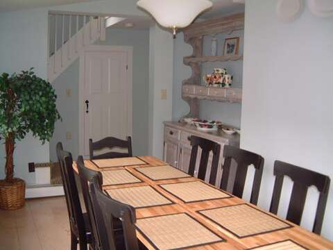 Plenty of seating to dine together! - 45 Route 28 West Harwich Cape Cod New England Vacation Rentals