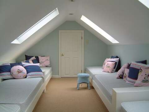 Bedroom #3 with 6 twins - 45 Route 28 West Harwich Cape Cod New England Vacation Rentals