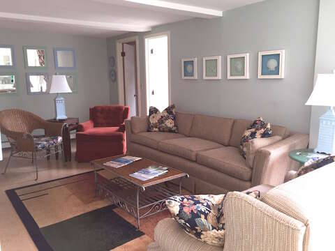 Updated Living Area - 45 Route 28 West Harwich Cape Cod New England Vacation Rentals