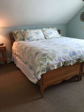 Bedroom #2 with 2 twins, shown here converted to a king bed - 45 Route 28 West Harwich Cape Cod New England Vacation Rentals