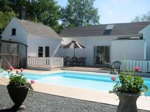Built in Pool ready for summer fun- fully fenced in - 45 Route 28 West Harwich Cape Cod New England Vacation Rentals