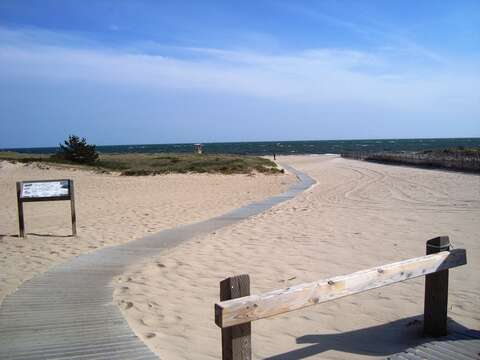 Bank Street Beach (saltwater), just 2.6 miles from the house- warmer water - gentle waves- Harwich Cape Cod New England Vacation Rentals