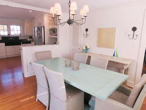 Large dining room open to kitchen - 14 Ivy Lane Chatham Cape Cod New England Vacation Rentals