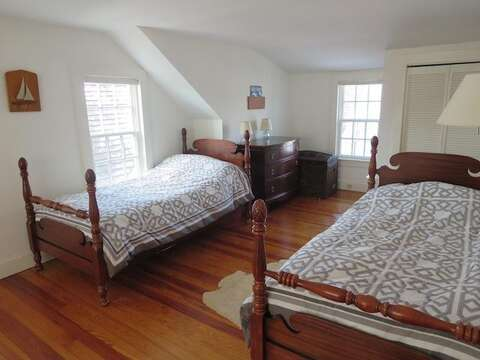 Upstairs Bedroom #3 with 2 Twins - 14 Ivy Lane Chatham Cape Cod New England Vacation Rentals