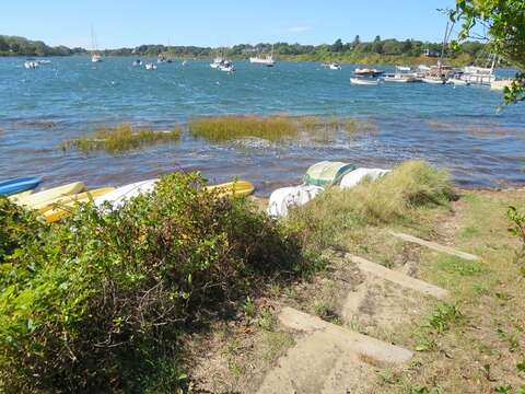 Path leads to waters edge - Chatham Cape Cod New England Vacation Rentals