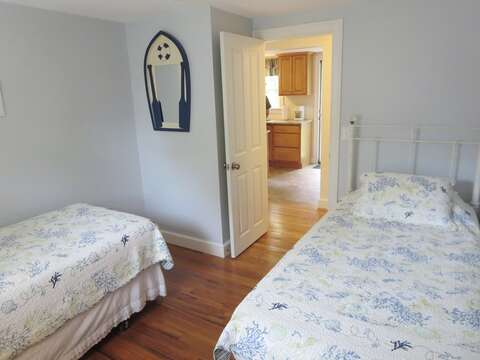 Bedroom #1 with 2 Twin Beds - 37 Jacqueline Circle West Yarmouth Cape Cod New England Vacation Rentals