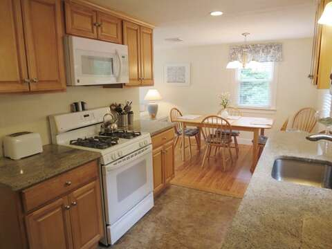 Updated kitchen with granite counters - 37 Jacqueline Circle West Yarmouth Cape Cod New England Vacation Rentals