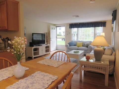 View from the dining area to the living room - 37 Jacqueline Circle West Yarmouth Cape Cod New England Vacation Rentals