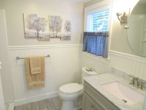 Ensuite bathroom with oversized shower -37 Jacqueline Circle West Yarmouth Cape Cod New England Vacation Rentals