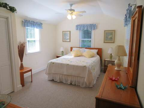 Entry at the end of the hall-Master Bedroom-Queen size Bed -- 37 Jacqueline Circle West Yarmouth Cape Cod New England Vacation Rentals