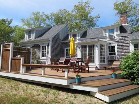 New deck with outdoor furniture - 49 Pleasant Lake Avenue Harwich Cape Cod New England Vacation Rentals