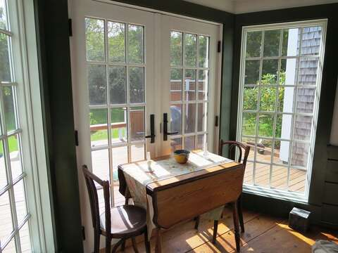 Breakfast nook - 49 Pleasant Lake Avenue Harwich Cape Cod New England Vacation Rentals