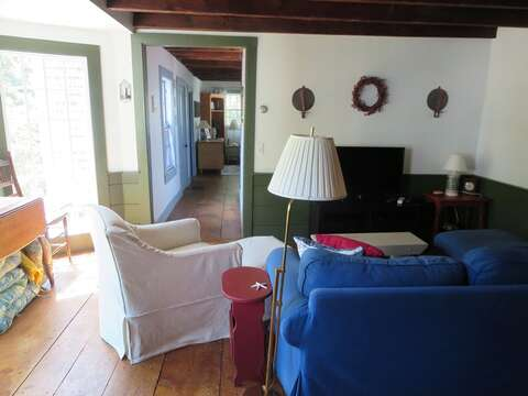 Looking at family room and hall to living room - 49 Pleasant Lake Avenue Harwich Cape Cod New England Vacation Rentals
