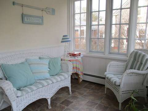 Breezway/enclosed porch - 36 Cross Street Harwich Port Cape Cod New England Vacation Rentals