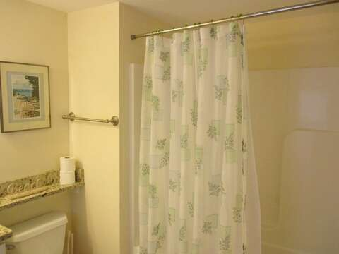 1st floor bathroom with a tub and shower - 36 Cross Street Harwich Port Cape Cod New England Vacation Rentals
