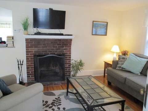The living room has a flat screen - 36 Cross Street Harwich Port Cape Cod New England Vacation Rentals