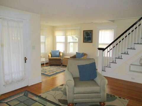 View to the sitting area and desk - 36 Cross Street Harwich Port Cape Cod New England Vacation Rentals