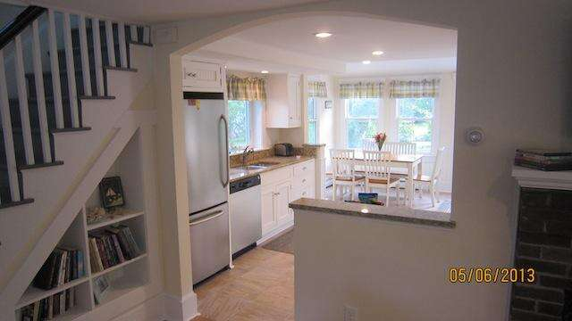 View into the kitchen - 36 Cross Street Harwich Port Cape Cod New England Vacation Rentals