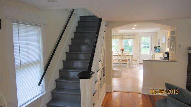 Stairs to the second floor - 36 Cross Street Harwich Port Cape Cod New England Vacation Rentals