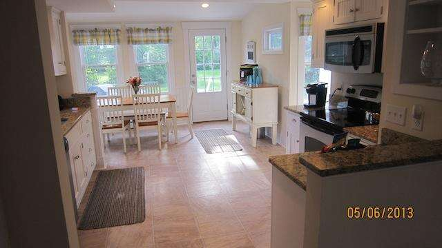 Kitchen with a dining area - 36 Cross Street Harwich Port Cape Cod New England Vacation Rentals