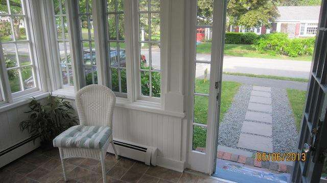 Relax here on the sunporch - 36 Cross Street Harwich Port Cape Cod New England Vacation Rentals