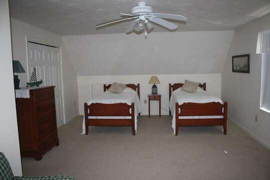 Bedroom #3 with 2 twins - 12 Alonzo Road South Harwich Cape Cod New England Vacation Rentals