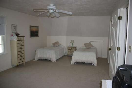 Bedroom #2 with 2 twins - 12 Alonzo Road South Harwich Cape Cod New England Vacation Rentals