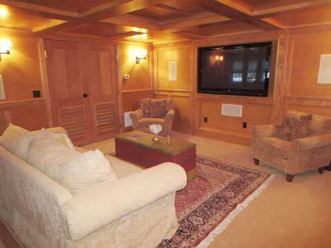 2 flat screen TVs, one in the sitting area and one by the pool table - 14 Hallett Lane Chatham Cape Cod New England Vacation Rentals